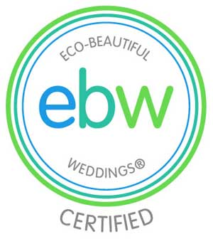 Eco-Beautiful Weddings Certified Vendor, for the greater SAN DIEGO and SAN FRANCISCO BAY areas